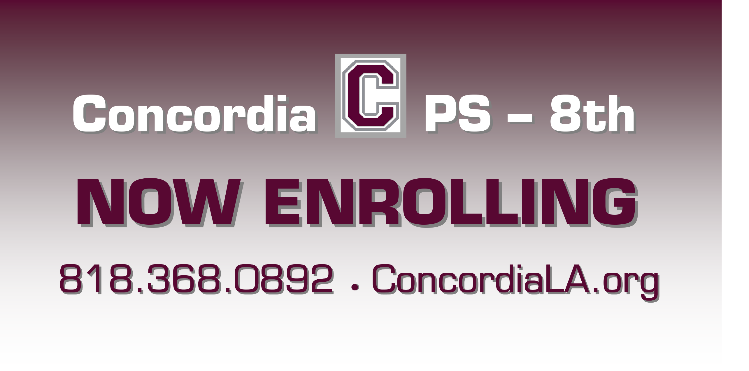 Now Enrolling at Concordia